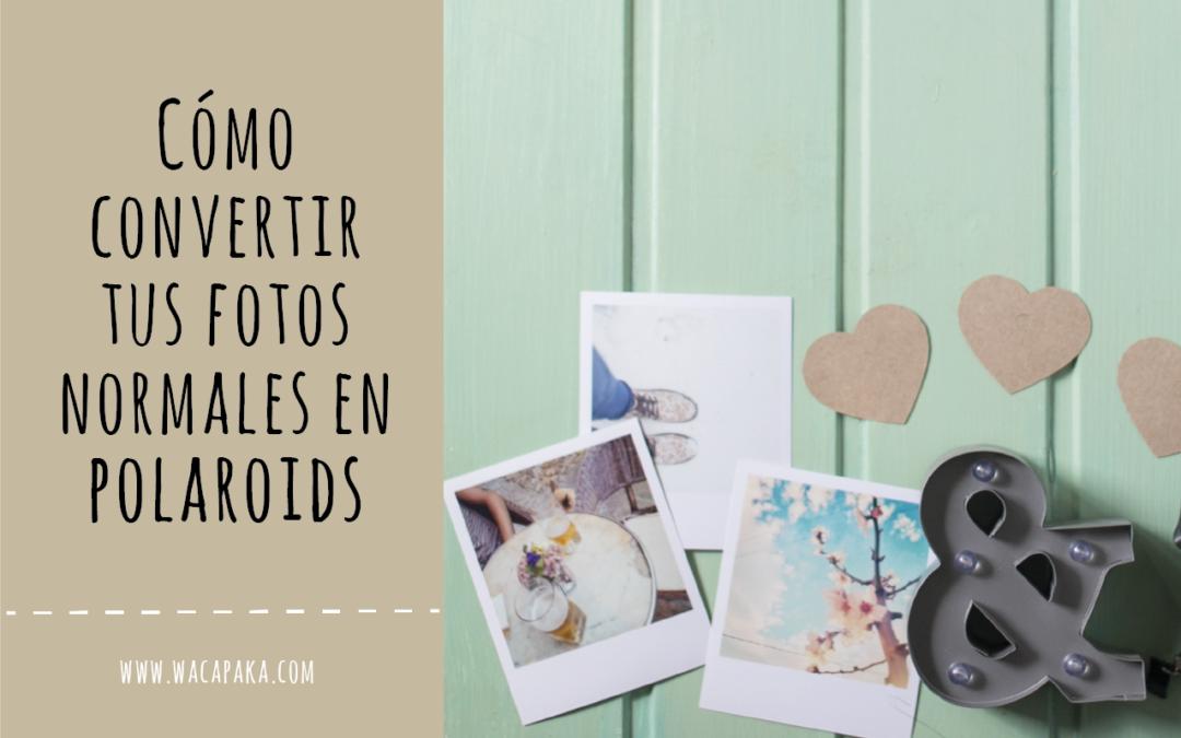 Cómo convertir tus fotos en bonitas polaroids