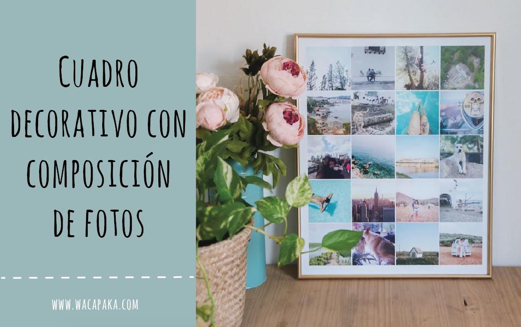 Cuadro decorativo con composición de fotos