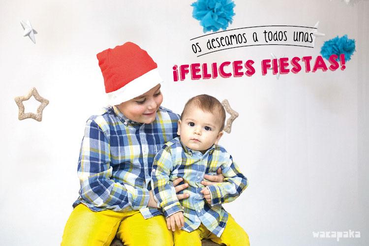 Stickers para felicitar bonito la Navidad