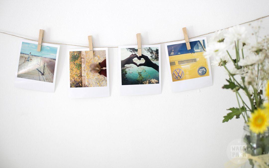 Guirnalda decorativa con las fotos de tus momentos
