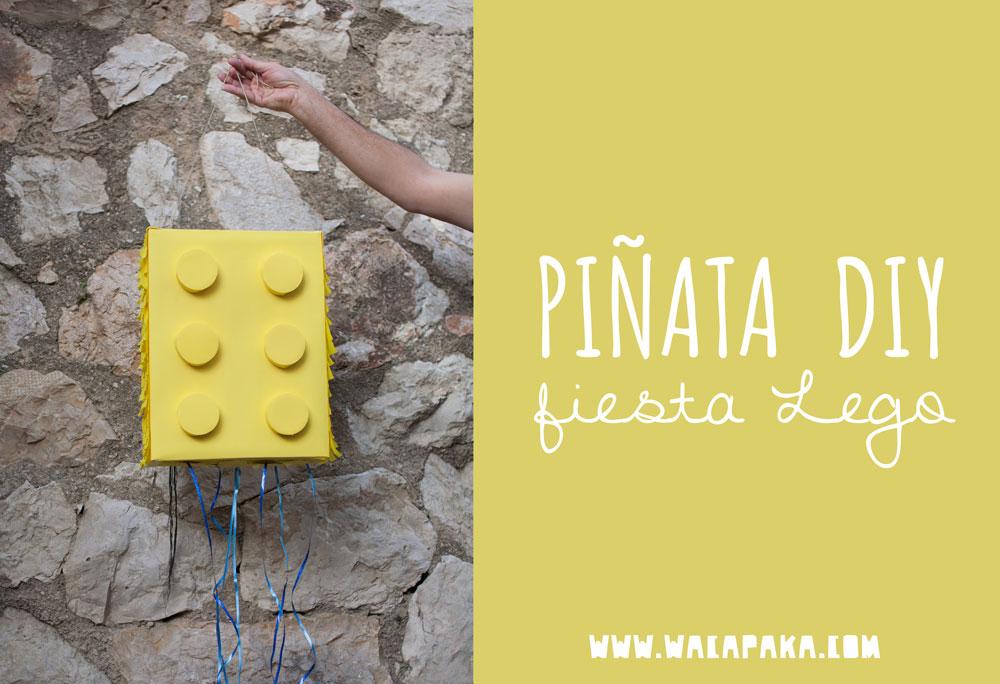 Piñata DIY para una fiesta Lego